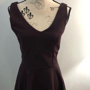 Topshop sleeveless mini dress eggplant size 8